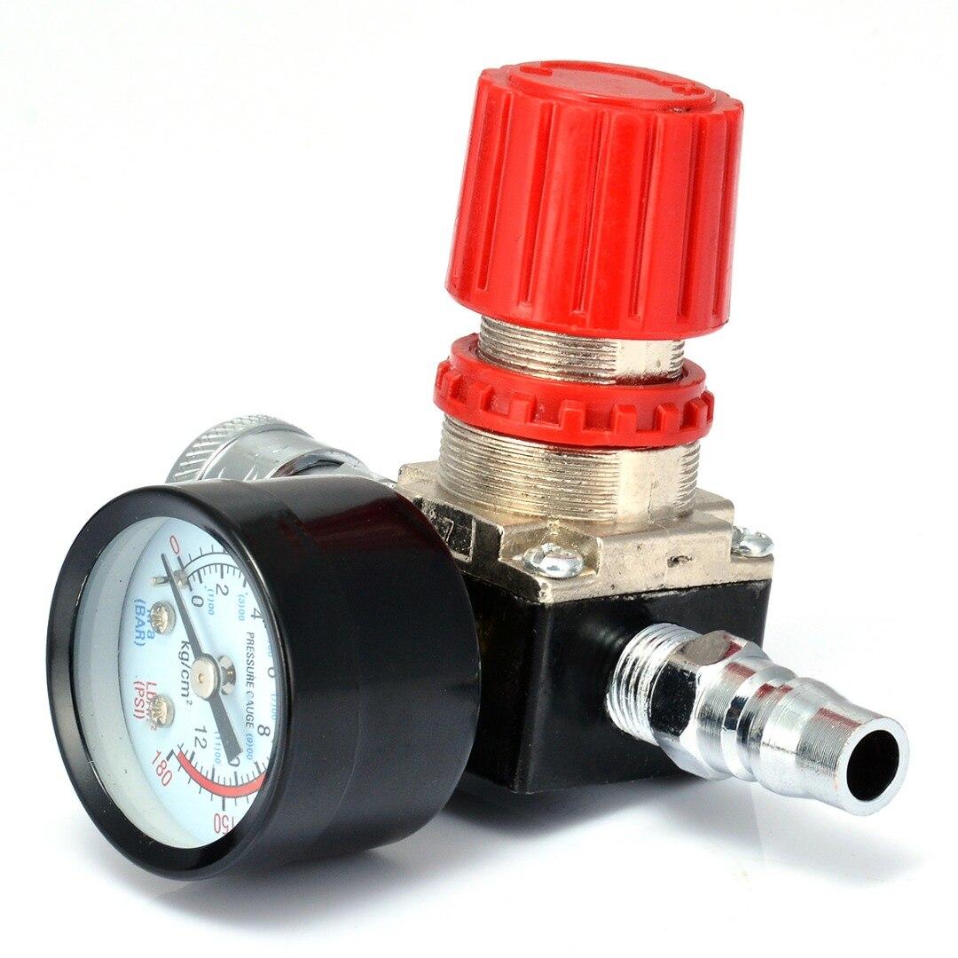 Válvula de Control de interruptor con medidores, 1 unidad de 180PSI, 12 Bar, para compresor de aire