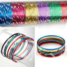 50 pièces/lot Bracelet en boucle colorée cercle mince Bracelet de danse Bracelet de brassard breloque en aluminium chromatique pour les enfants en gros