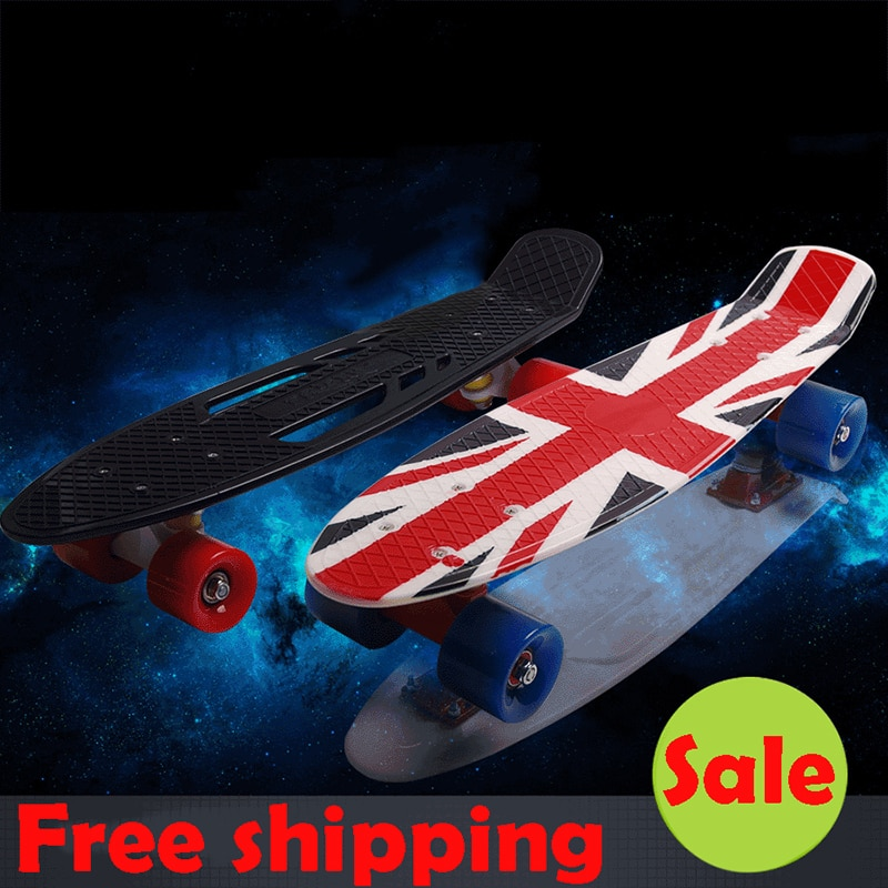 New peny board 22 Skateboard Pnny Board Complete Plastic Mini Skate Longboard Retro Cruiser long skate board for sale hoverboard