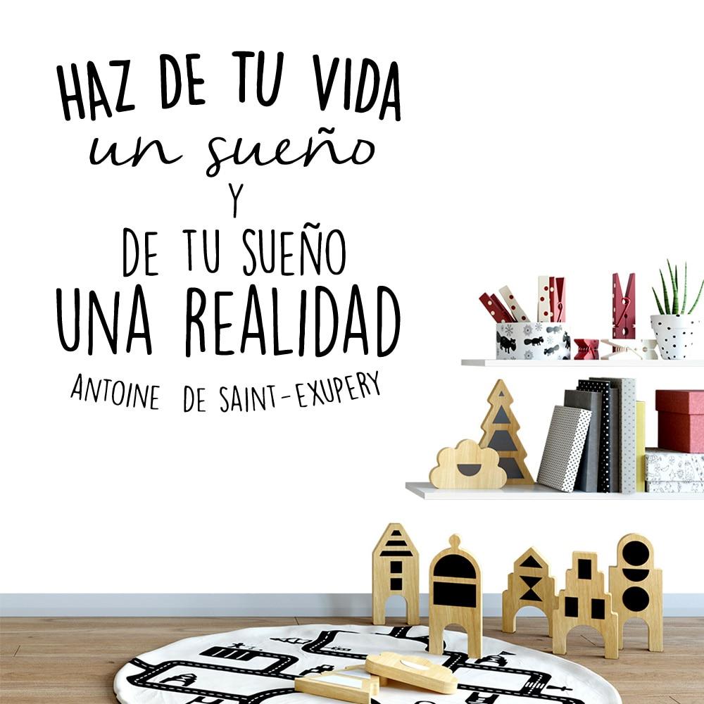 Autocollant mural en vinyle avec citations espagnoles   Autocollant mural créatif pour décoration de maison, autocollant mural pour chambre denfants, décor Nature, autocollant mural dart