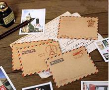50 pièces Mini cadeaux enveloppe rétro carte postale lettre papeterie stockage brun Kraft papier Vintage enveloppes fournitures scolaires en gros