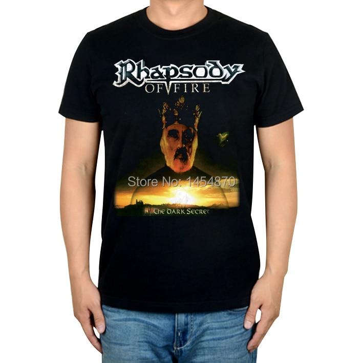 Italy Rhapsody The Dark Secret Rock Brand men women shirt 3D Cotton Punk fitness Hardrock heavy Dark Metal
