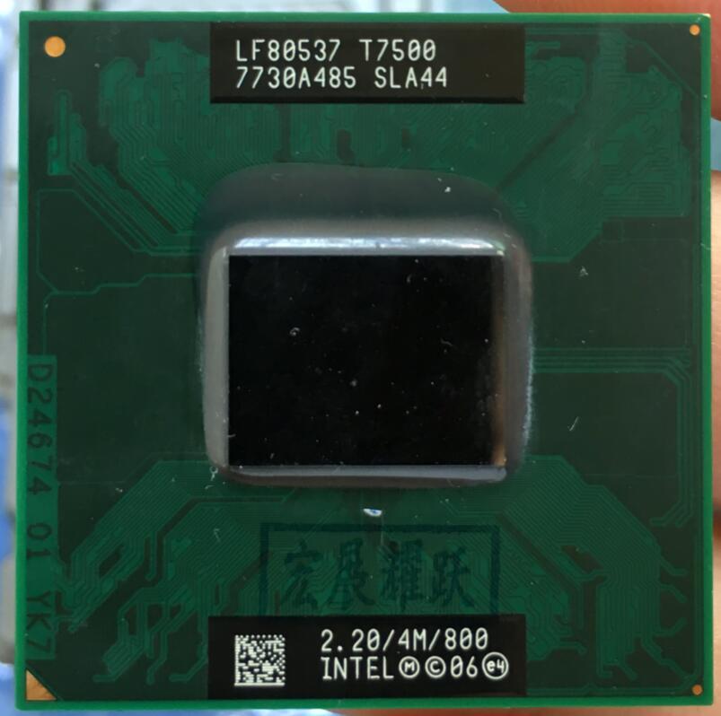 Processore Intel Core 2 Duo T7500 CPU Laptop PGA 478 cpu 100% funzionante correttamente