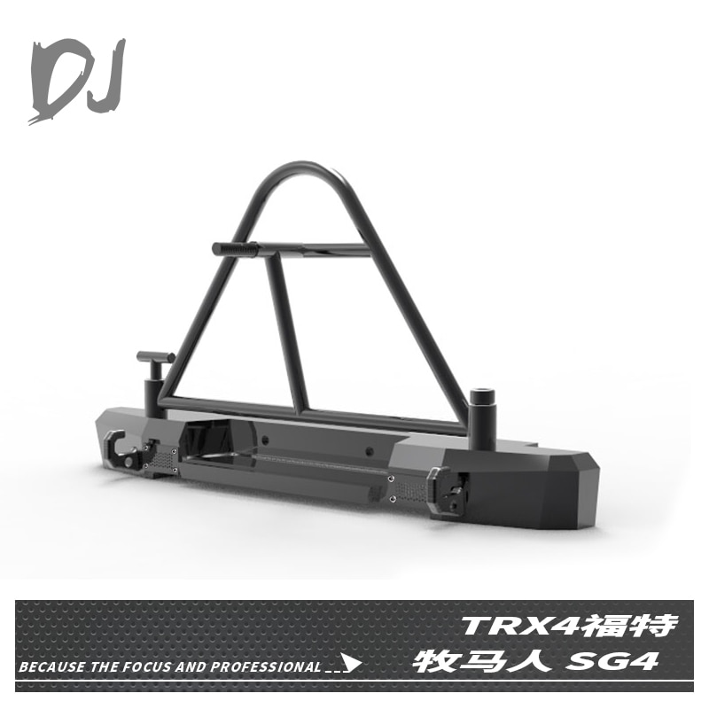 DJ TRX4 SCX10 Metal rear bumper Spare tire carrier for  TRX4  SCX10 SG4  90046    NEW