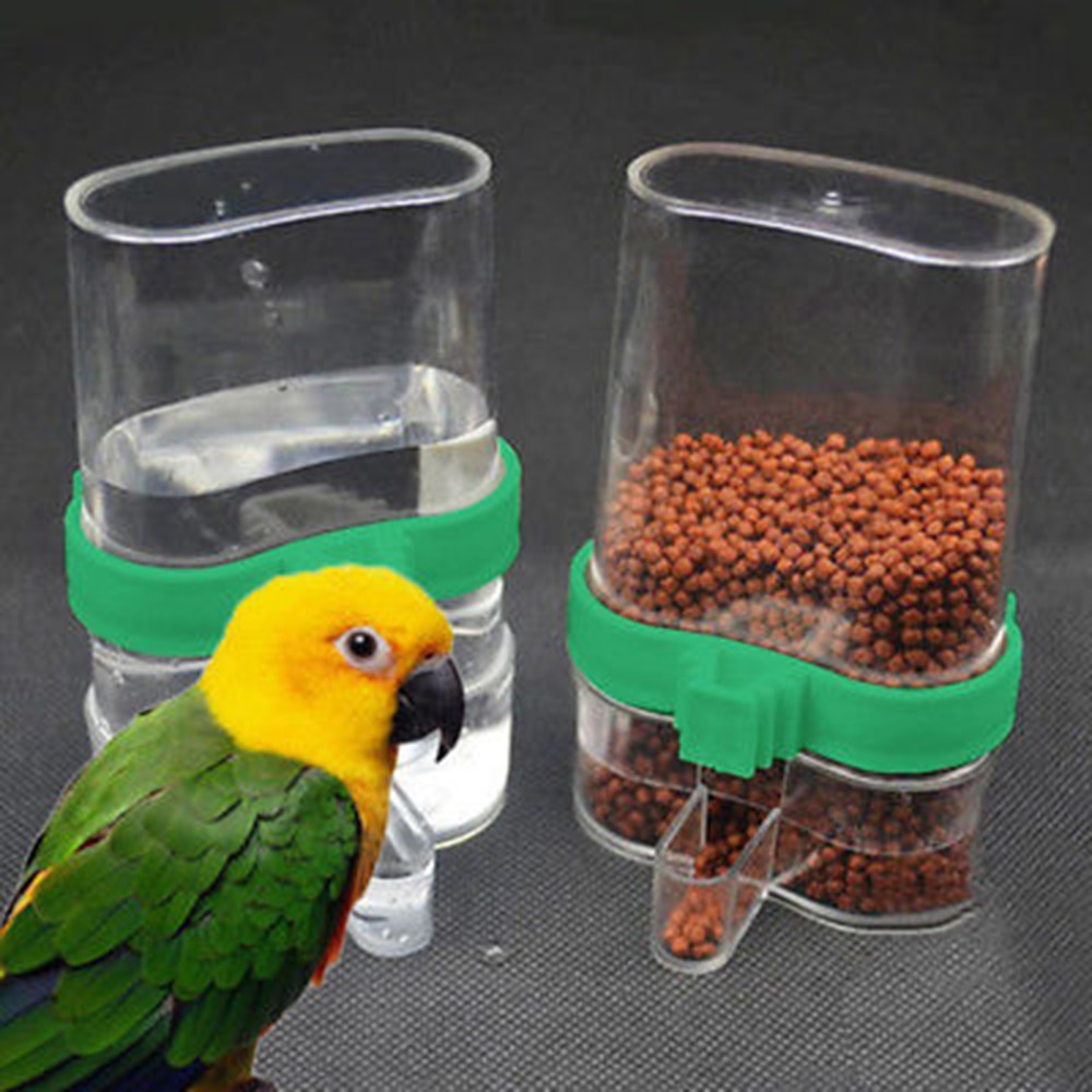 Comedero automático para pájaros, trampa de agua, jaula de loro, colador de comida para mascotas, jaula para mascotas, bebedero para pájaros, utensilios para loros