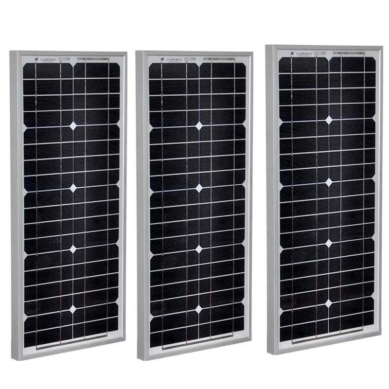 Panneau Solaire 12 فولت 20 واط 3 قطعة Zonnepanelen 60 واط الشمسية بطارية المحمولة شاحن بالطاقة الشمسية Rv متنقل القوافل أوتوكارافاناس LM