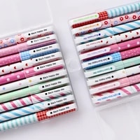 10 color pen with box japanese and korean creative stationery broken flower watercolor pen color neutral pen