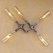 Rétro industriel iluminacion mur LED lampe abat-jour en verre LOFT fer rouille comprennent G4 ampoule applique murale pour salle de bains chambre restaurant