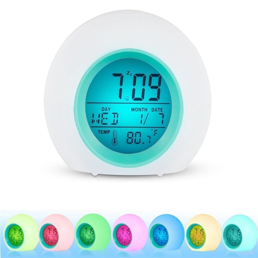 Despertador LED despertador luz reloj Digital con pantalla de temperatura y sonido Despertadores nueva llegada