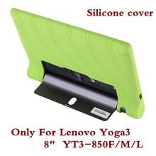 "De silicona Tablet de la cubierta de la caja de la PC para Lenovo Yoga Tab 3 YT3 850 YT3-850F YT3-850M YT3-850L funda trasera 8 ""para Yoga Tab 3 YT3 850F pluma"