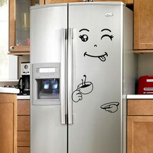 Cute Sticker Fridge Cartoon smile Face Kitchen Fridge Wall Refrigerator Vinyl Stickers Art Wall Decal Home Decor s1