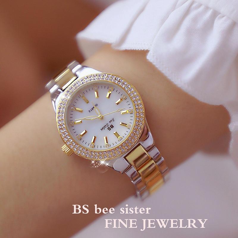 2019 Fashion Rose Gold Quartz Watches Female Stainless Steel Wristwatches Luxury Brand lady Crystal Watch Women Dress Watch enlarge