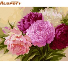 RUOPOTY Chinesische Blume DIY Malen Nach Zahlen Kits Färbung Durch Zahlen Wandkunst Bild Dekoration Für Wohnzimmer Kunstwerk 4050