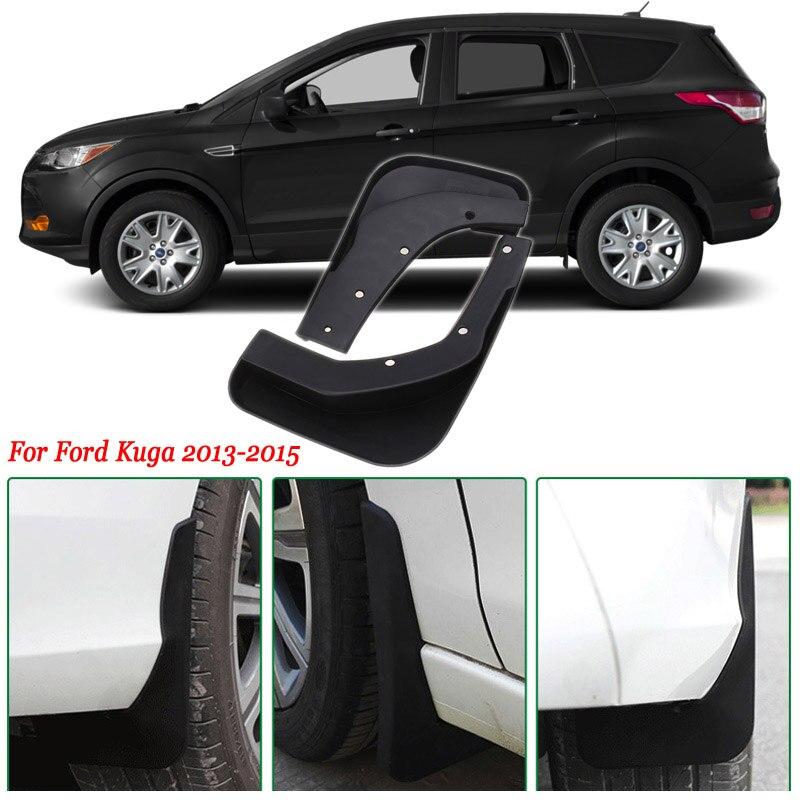 4 Uds pesado Premium deber moldeado Splash faldón guardabarros para Ford Kuga 2013-2015