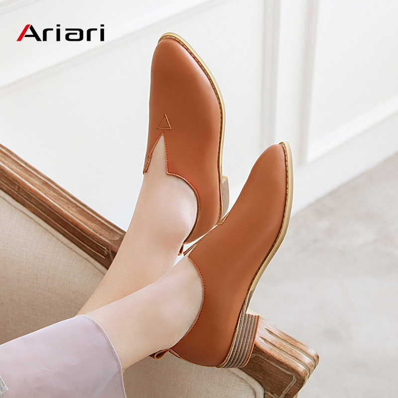 Chaussures décontractées femmes mocassins mode léger confortable PU cuir Oxford sans lacet femmes chaussures à talons bas chaussures plates grande taille 48