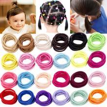 Cravates pour cheveux de bébé Girsl   240 pièces, bandes de caoutchouc élastiques porte-queue de cheval pour enfants tout-petit