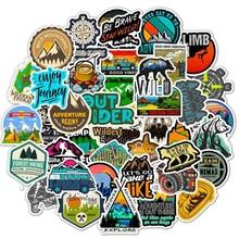 50Pcs Camping Reizen Stickers Wildernis Adventure Outdoor Landschap Waterdichte Sticker Sticker Om Diy Laptop Koffer Motor F5