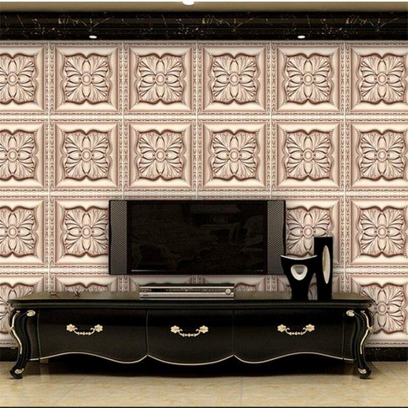Papel pintado beibehang personalizado de gran fresco 3d estéreo jade parquet Fondo Sala sofá Fondo papel de pared