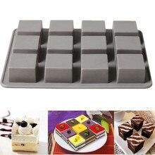 175x135mm 12 Kare Silikon Kek Kalıbı Silikon Brownie Kareler Pişirme Kalıp Brownie Kek Pişirme Kalıp Küpü Çikolata kalıp