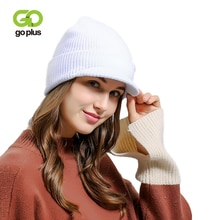 GOPLUS couvre-chef tricoté pour femmes   Nouvelle marque à la mode, chapeau décontracté, bonnets en coton solide, épais et chaud pour filles, 2020