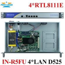 Service de pare-feu 1U Type Intel D525 4*82583 V Ports Radius Mikrotik