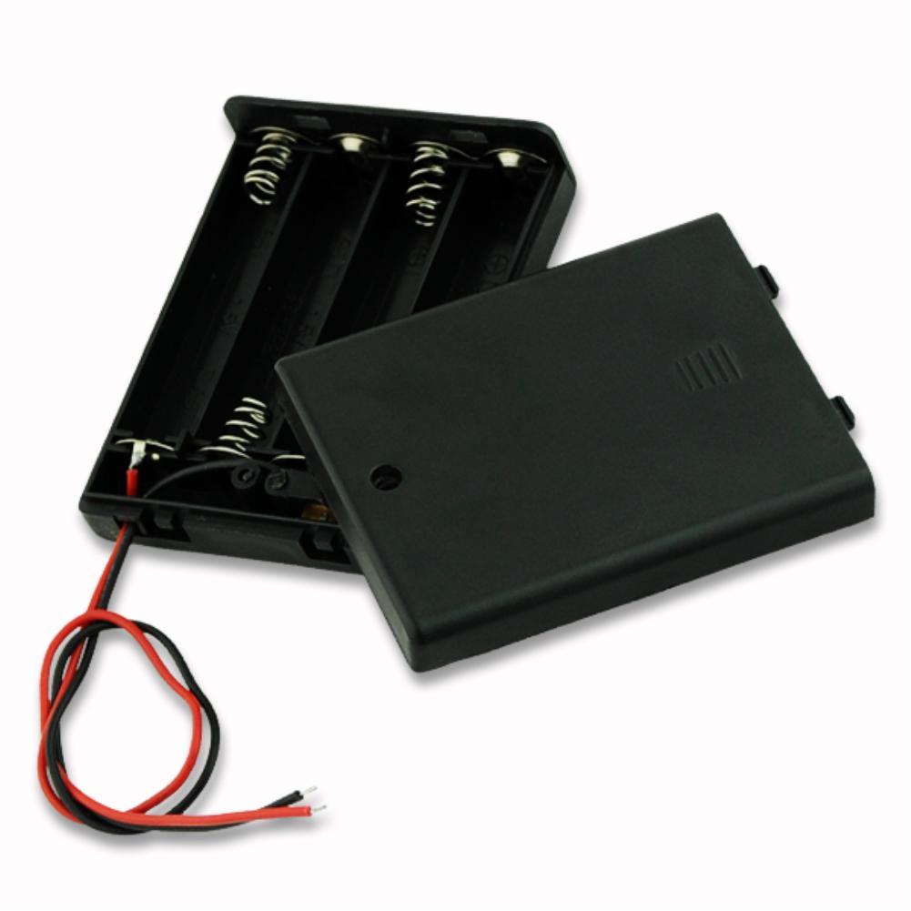 6 estilos. 4 AA 3 AA 2 AA 2A funda porta baterías caja con interruptor negro 4 AAA 3 AAA 2 AAA bateria externa para celular