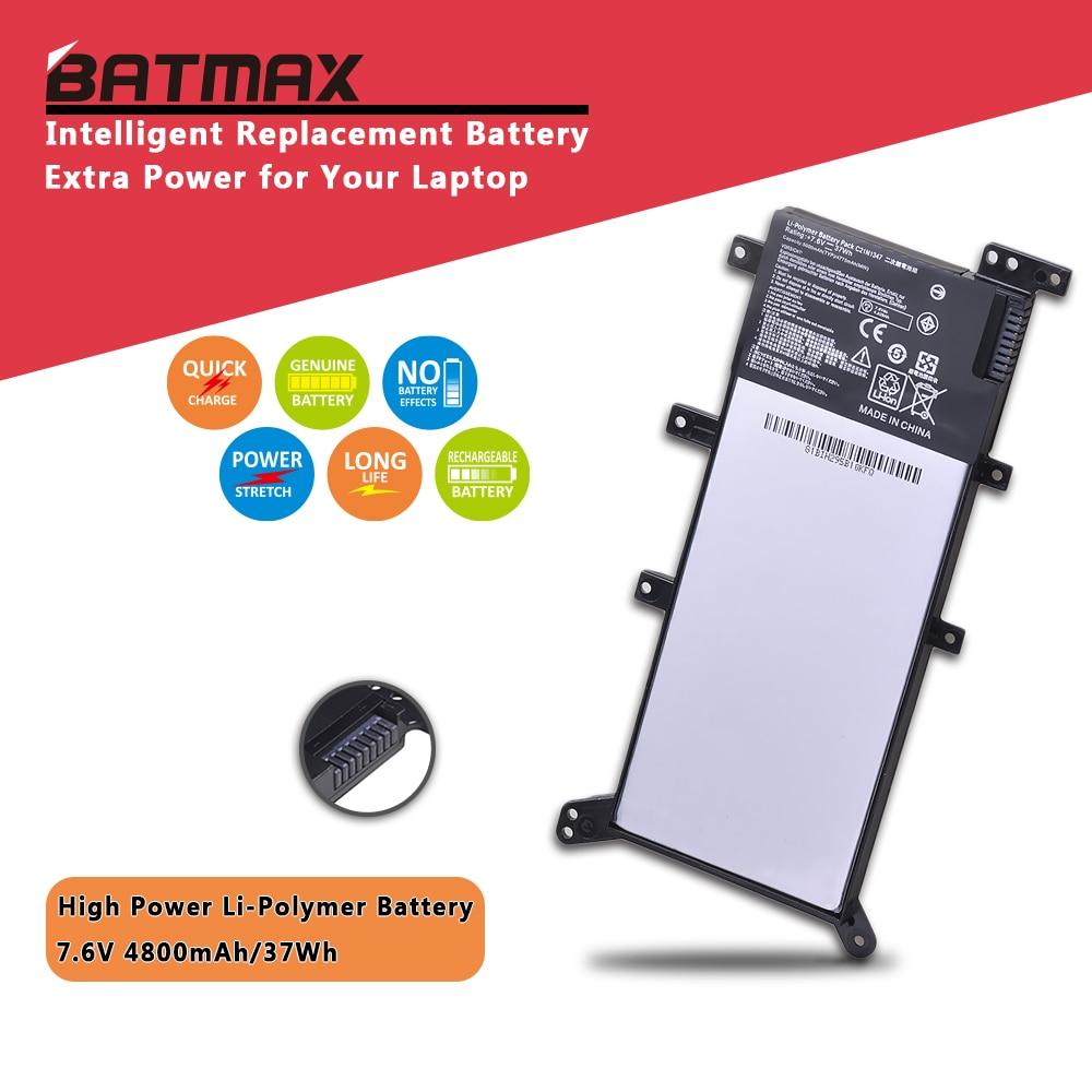 7,6 V 37Wh C21N1347 portátil X555 batería para ASUS X555 X555L X555LD X555L F555UA F555UB Y583LD F555UJ F555UF K555L 2ICP4/63/134