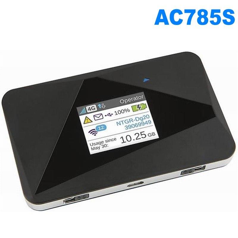 Desbloqueado Netgear AirCard 785 S (2 piezas antena) LTE Mobile Hotspot Wi-Fi de doble banda 2,4 GHz/5 GHz 4G FDD/700/900/1800/ 2100/2600 MHZ