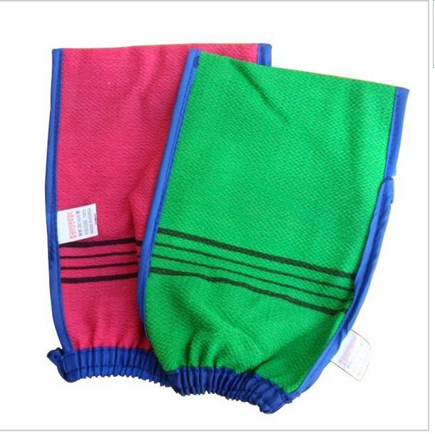 Free shipping 50 pcs/lot korea hammam scrub mitt magic peeling glove exfoliating tan removal mitt