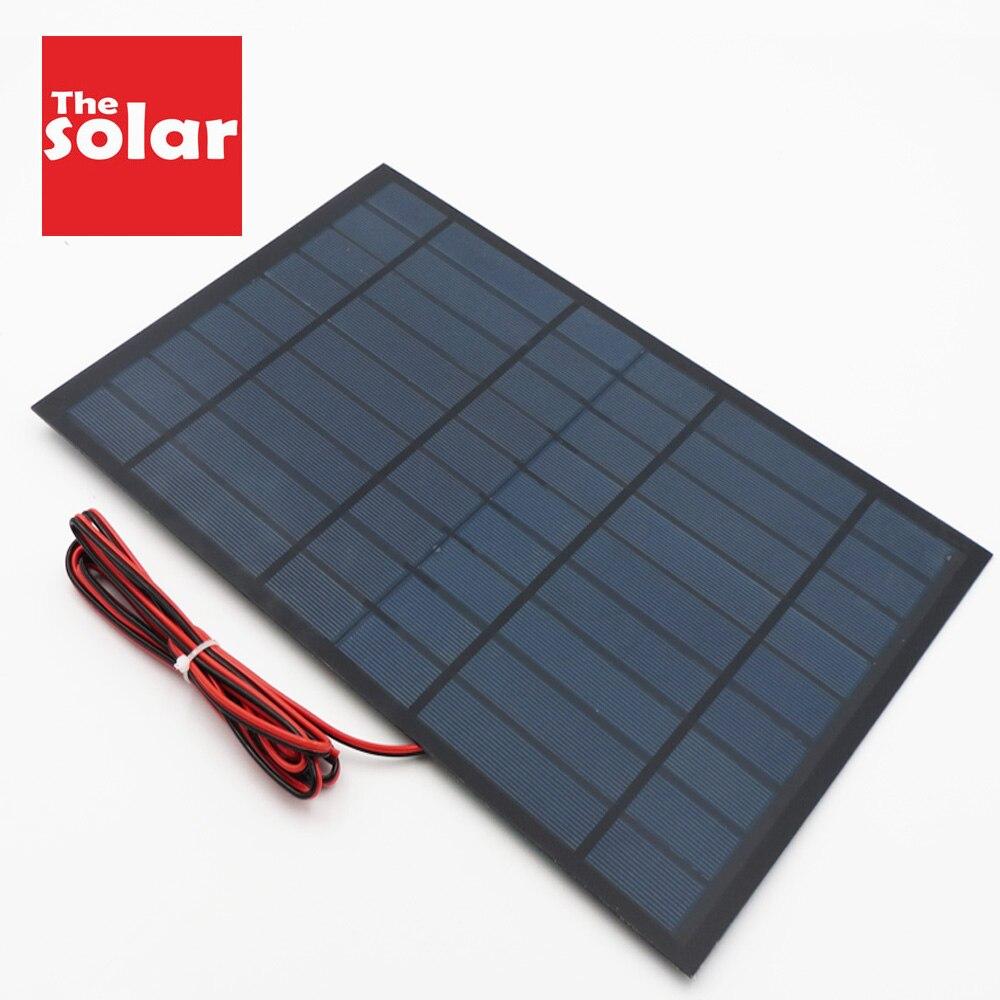 9VDC 10 vatios 6V batería de carga Panel Solar de silicio policristalino DIY módulo para cargador de batería Mini lámpara Solar LED