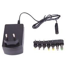 Универсальный адаптер переменного тока 3A, адаптер с 7 наконечниками, вилка постоянного тока 3/4, 5/6/7, 5/9/12 в, зарядное устройство стандарта ЕС д...