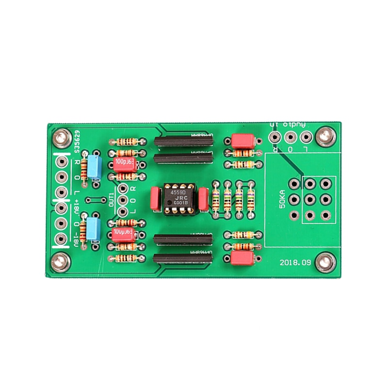 Placa amplificadora de preamplificación RC4559 op doble canal amp Classic preamplificador de referencia A25