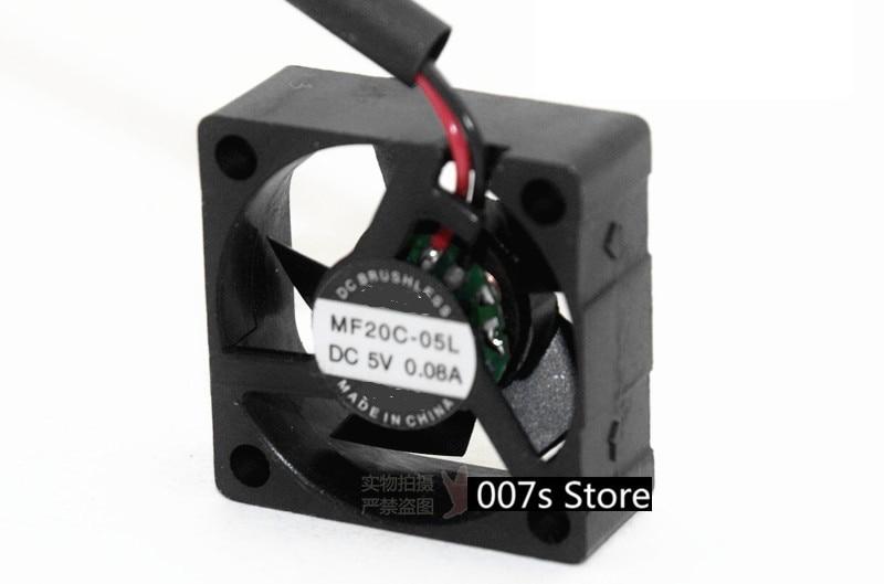 Novo ventilador de refrigeração do radiador para sepa MF20C-05L 2 cm dc 5 v 0.08a 20*20*8mm 7700 rpm 2pin ou 3pin interface