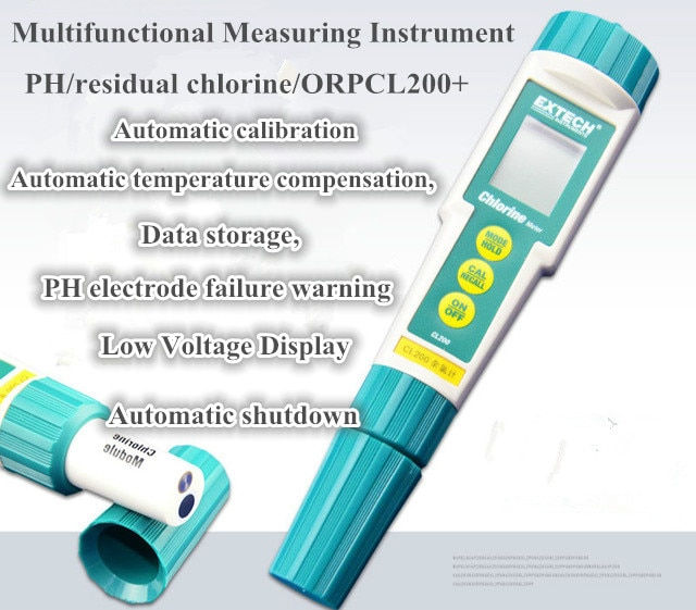 Шанхай Sanxin CL200 + Ручка pH ORP измеритель хлора рН метр CL200|Измерители pH| |