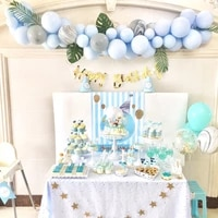 btrudi blue pink balloon chain macaroon balloons modeling baby birthday kids party wedding background wall supplies diy decorate