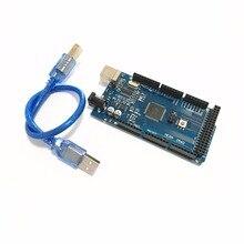 MEGA2560 MEGA 2560 R3 (ATmega2560-16AU CH340G) Pro MEGA2560 AVR carte de développement de carte USB MEGA2560 avec câble pour arduino