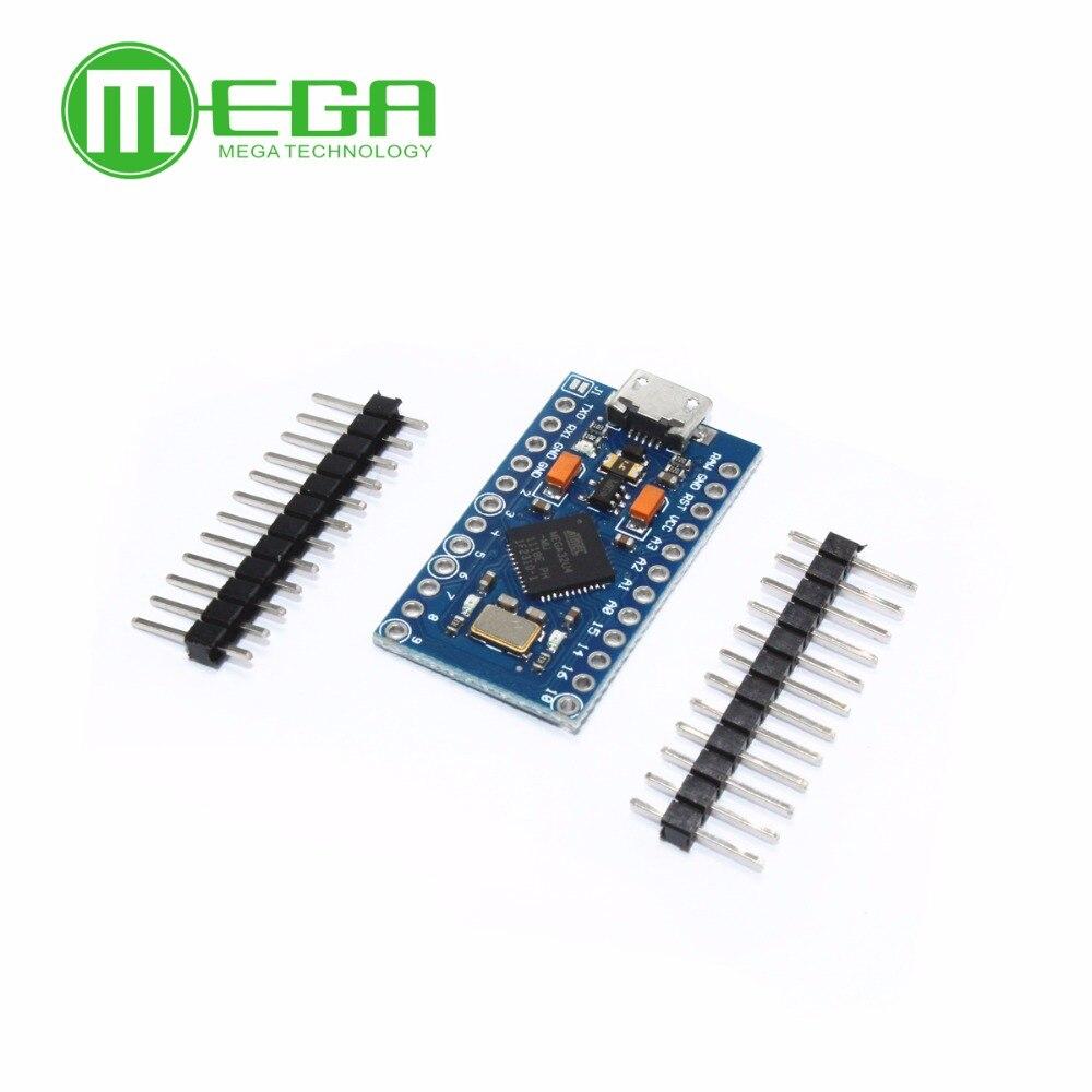 5 uds Pro Micro ATmega32U4 5 V/16 MHz módulo con 2 pines de fila MINI USB MICRO USB