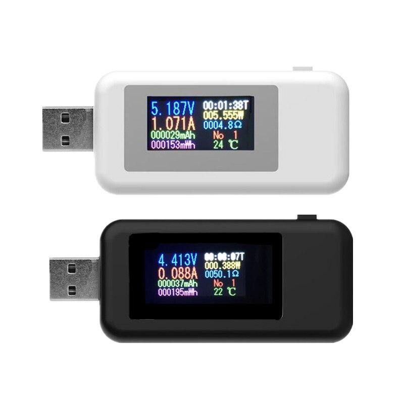 10 قطعة 10 في 1 مختبر USB الفولتميتر الحالي كاشف الجهد الحالي متر شاحن بنك الطاقة شاحن USB كاشف 20% خصم