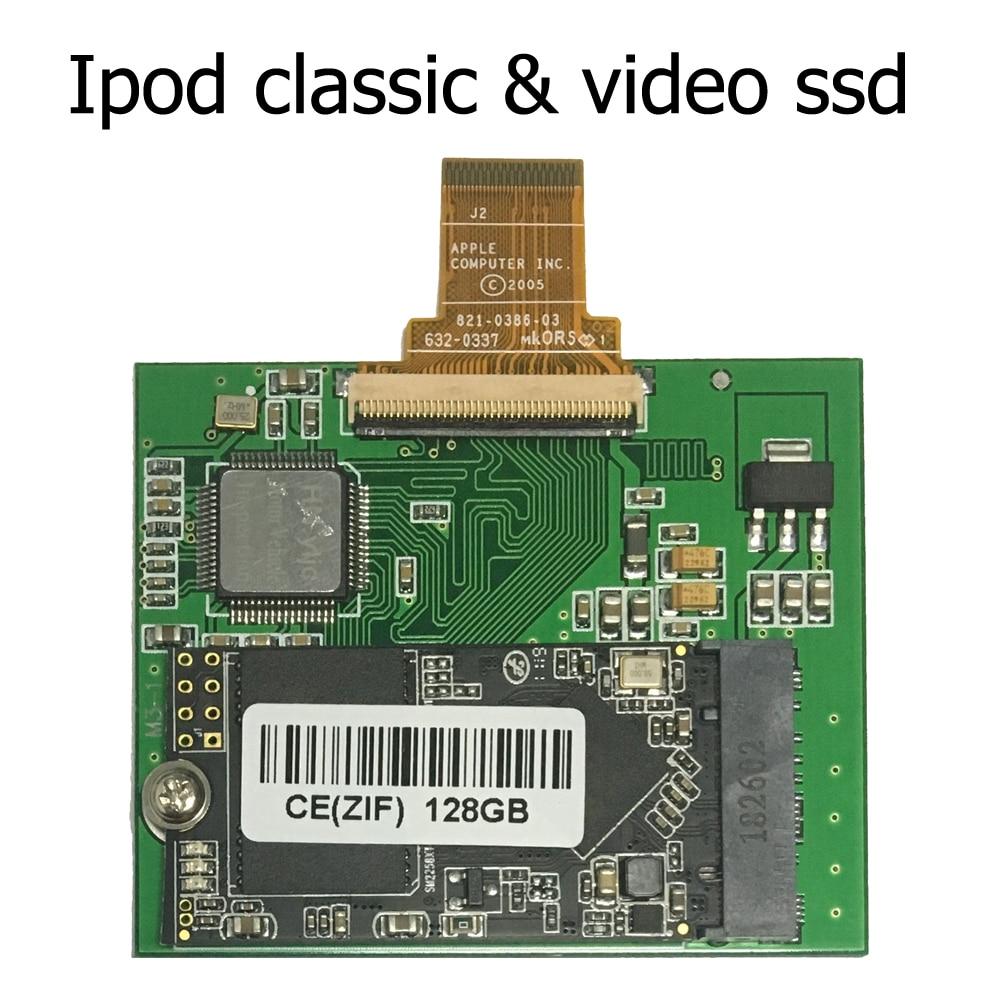 128GB 256GB SSD de 512GB para Ipod classic 7Gen Ipod video 5th reemplazar MK3008GAH MK6008GAH MK801GAH MK1634GAL Ipod HDD disco duro
