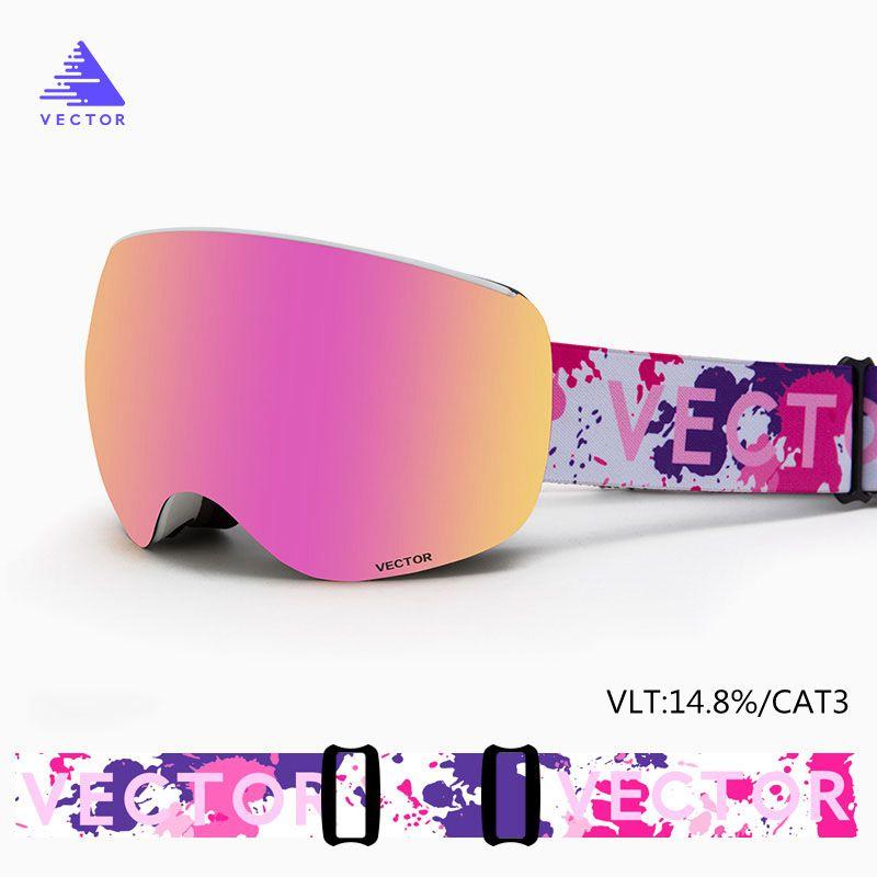Gafas de esquí magnéticas de doble capa UV400, máscara de esquí grande antiniebla, gafas de esquí para hombres, mujeres, Snowboard, gafas de esquí, gafas de nieve