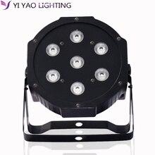 7X10W 4 IN 1 RGBW 7 LED Par Stage Lighting DMX Mixing Effect DJ Party Light