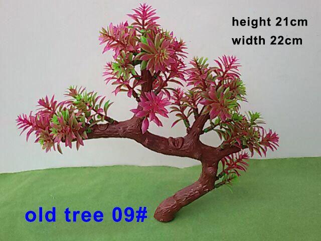 9 # arbres miniatures ABS en plastique modèles arbres Train chemin de fer paysage couleur verte vieux arbres pour larchitecture