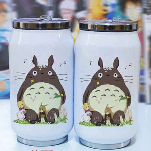 Taza térmica al vacío de dibujos animados de 300 ml, taza con figuras de anime de acero inoxidable my neighbor totoro, taza con japonés hayao miyazaki