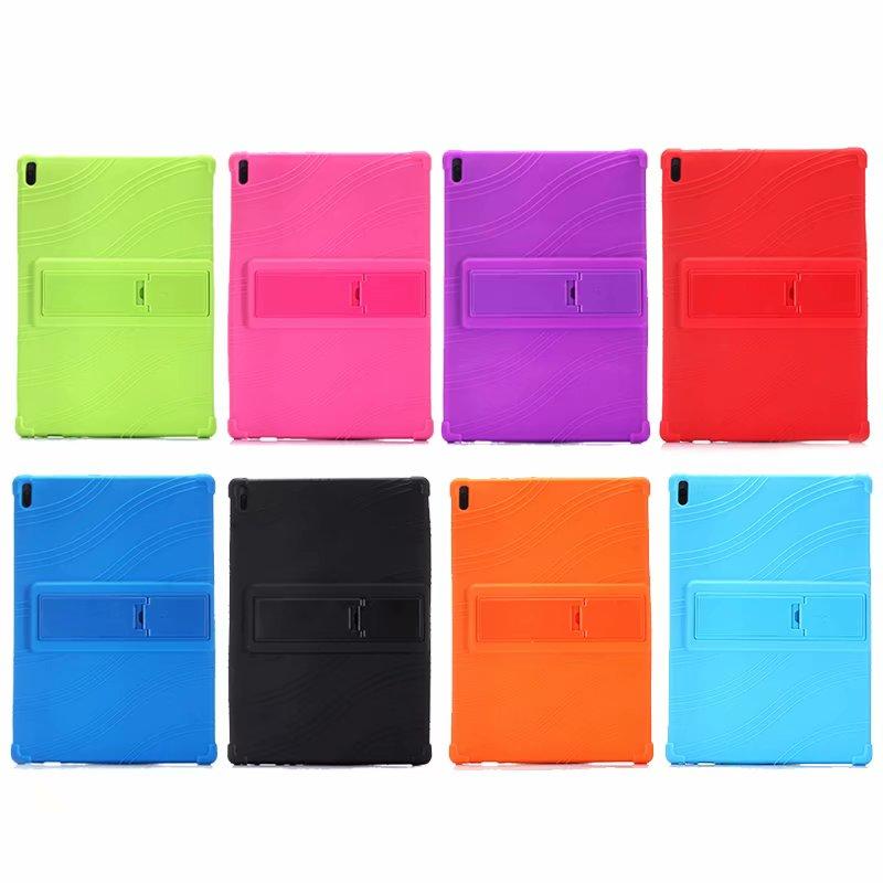 Para lenovo tab4 tab 4 10 tb-x304l TB-X304F/n criança silicone suporte caso para lenovo tab 4 tab4 10 plus tablet macio caso de volta + caneta