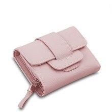 2020 nouveau portefeuille pour femmes Vintage en cuir souple moraillon fermeture éclair mode Tri-plis pochette porte-monnaie porte-cartes femme court portefeuille