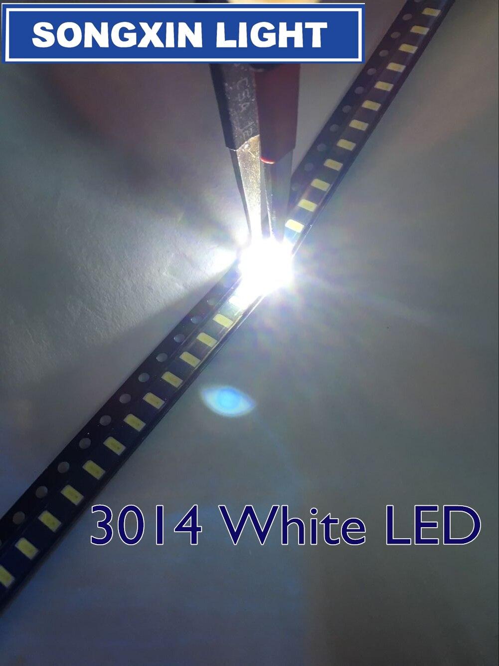 8000 piezas 3014 blanco SMD LED de 3,0-3,2 v 30mA 9-10LM * 3,0*1,4 MM 6000-6500k 0,1 w 3014 smd led diodos