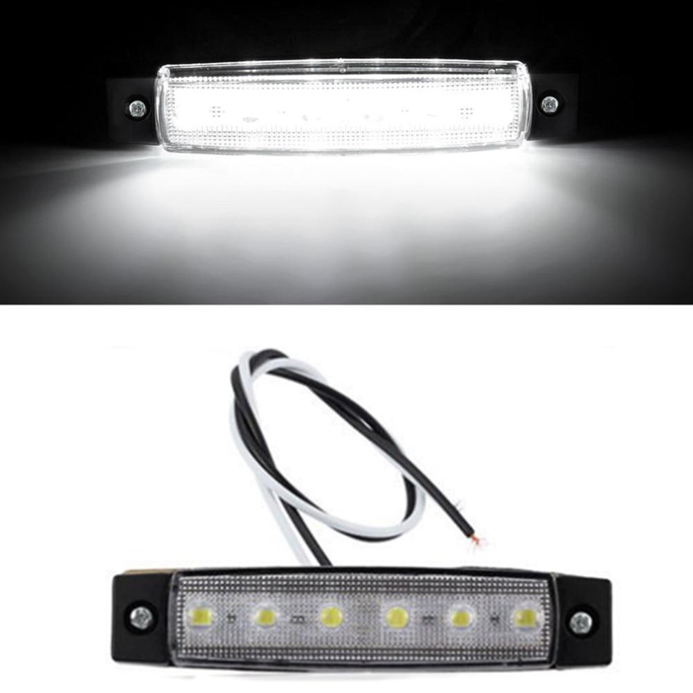 Waterproof 6 LED Car Truck Trailer Side Marker Indicators Lights Lamp DC 12-24V Red/White/Yellow Light