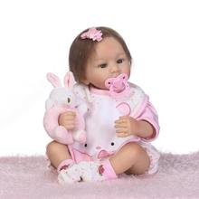 53cm New arrival rooted  imported mohair Handmade Silicone adora Lifelike Brinquedos Baby Bonecas Be