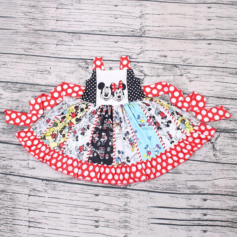 Droppshipping popular menina vestido dos desenhos animados mouse princesa roupas de bebê traje do miúdo vestidos de festa para meninas vestido infantil