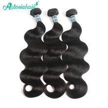 Asteria Haar Braziliaanse Body Wave Menselijk Haar Weave 3 Bundels 10 tot 18 20 22 24 26 28 30 Inch natuurlijke Zwarte kleur Remy Haar Weave